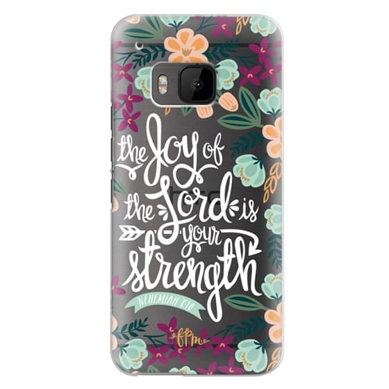 Htc One M9 Cases - The Joy of the Lord - White Words
