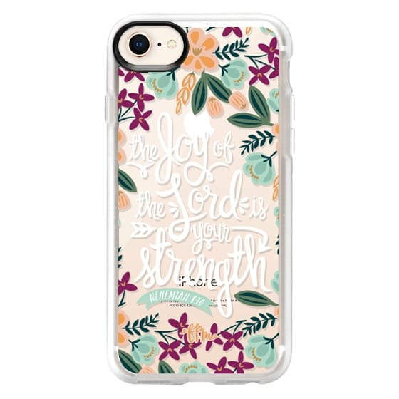 iPhone 8 Cases - The Joy of the Lord - White Words