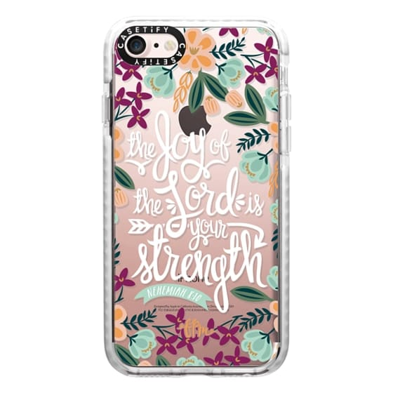 iPhone 7 Cases - The Joy of the Lord - White Words