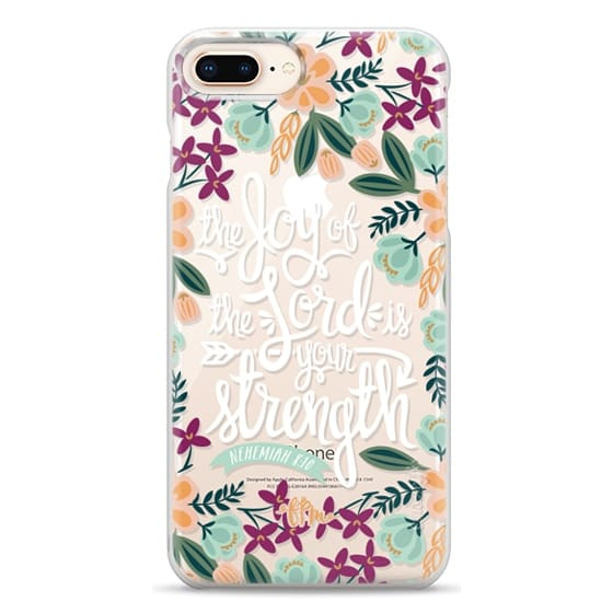 iPhone 8 Plus Cases - The Joy of the Lord - White Words