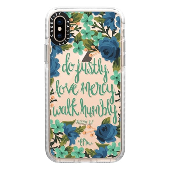 iPhone XS Cases - Micah 6:8
