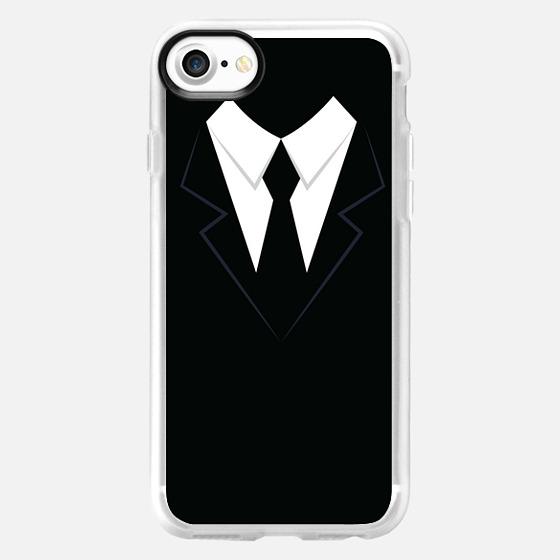 Black & White Men Suit - Wallet Case