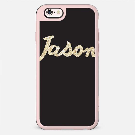 """""""Jason"""" Gold glitter custom case - New Standard Case"""
