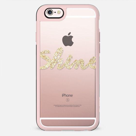 "Gold Glitter ""SHINE"" Transparent - New Standard Case"