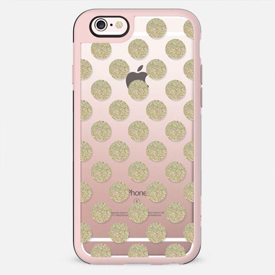 gold glitter polka dots - New Standard Case