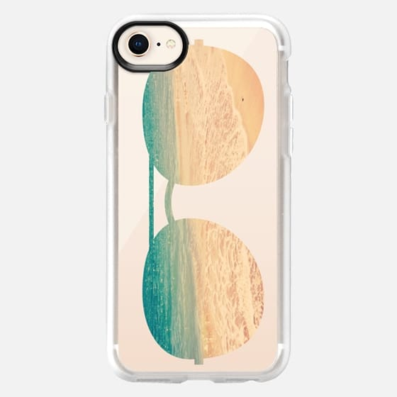 sunglasses & beach (Transparent) - Snap Case