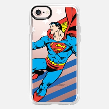 iPhone 7 ケース Superman in Action Color