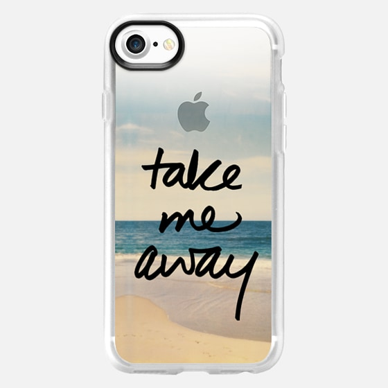 Take Me Away Vintage Beach - Wallet Case