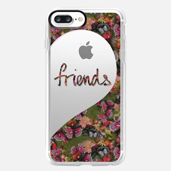 Best Friends (Friends Half Heart) Butterfly Garden -