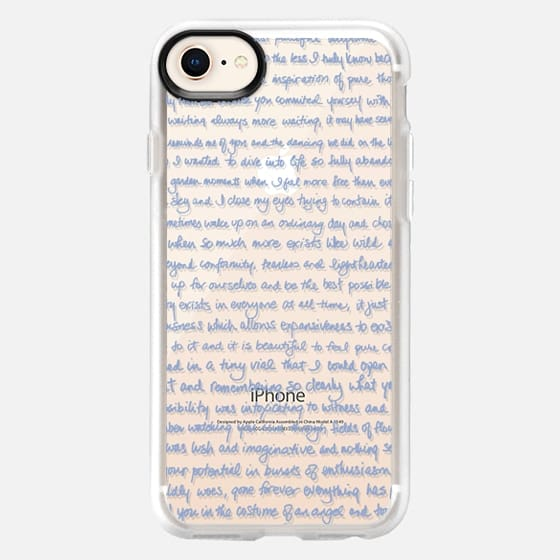Love Letter (Serenity Blue) By 3 Red Threads - Snap Case