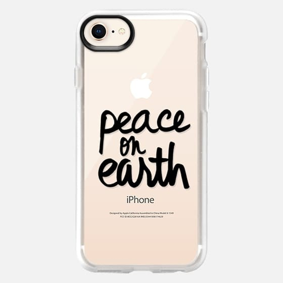 Peace on Earth (Black Writing) - Snap Case
