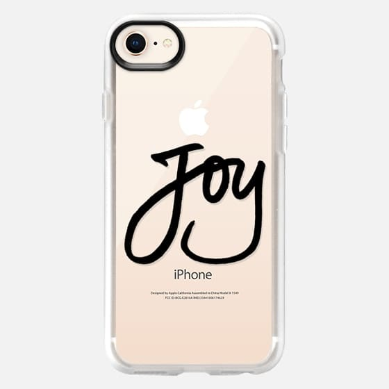 Joy (Black Writing) (Holidays, Christmas) - Snap Case