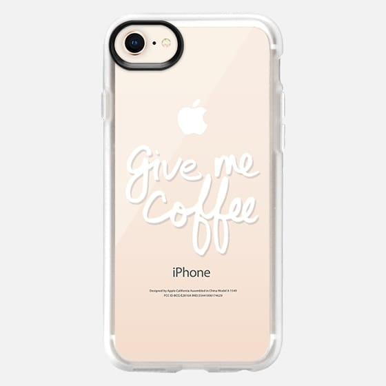 Give Me Coffee (White Writing) - Snap Case
