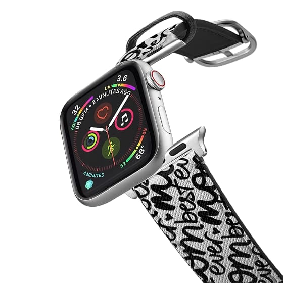 Apple Watch 38mm Bands - Best Mom Ever (black handwriting + transparent background) (Mother's Day)