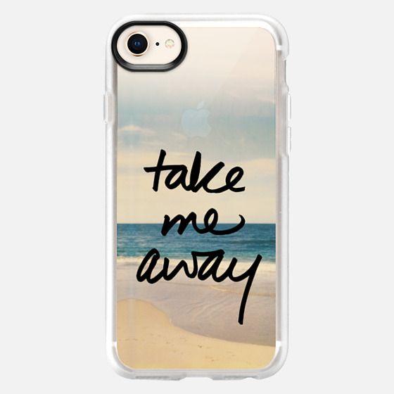 Take Me Away Vintage Beach - Snap Case