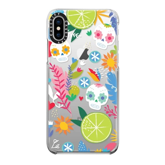 iPhone X Cases - Floral Skulls