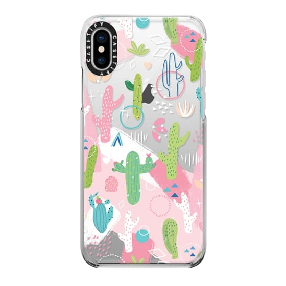 iPhone X Cases - Cactus with Pink
