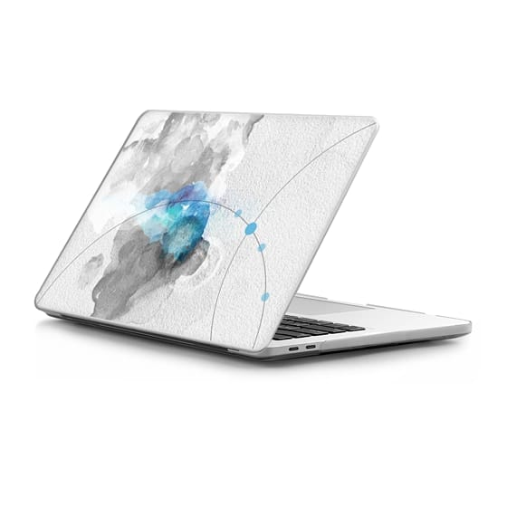 Macbook Pro 15-inch (2016 - 2017) Coque - Watercolor abstract black&white Blue