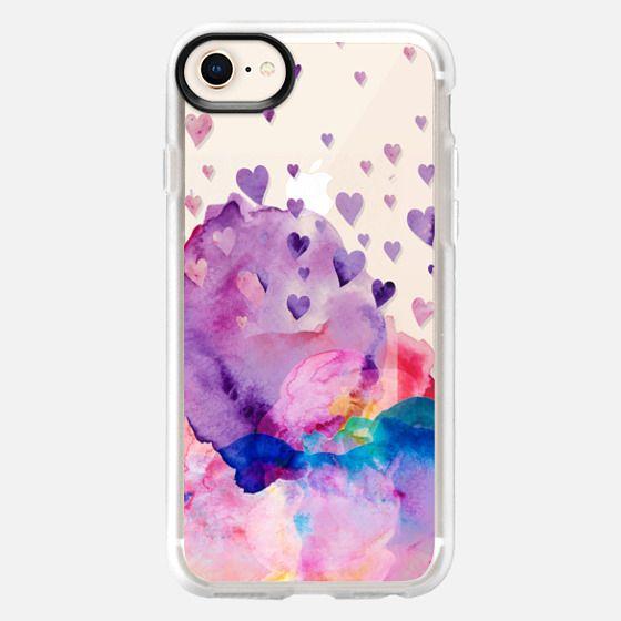 Watercolor love 3 transparent - Snap Case