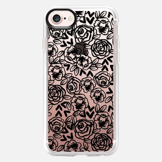Black and White roses minimal trendy cell phone case iphone6 cases by andrea lauren  - Wallet Case