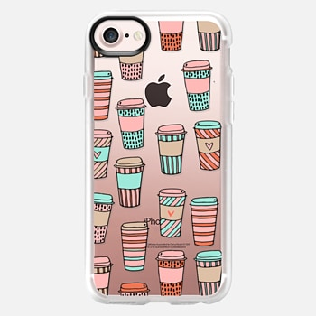 iPhone 7 Case but first, coffee - latte cute food foodie clear case