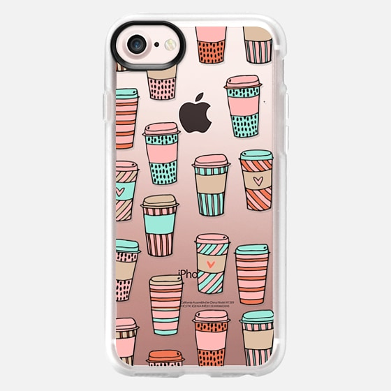 but first, coffee - latte cute food foodie clear case -