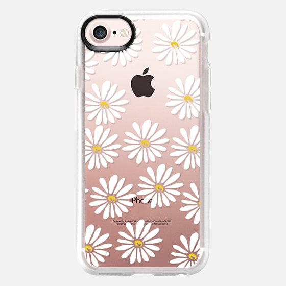 Daisies - 90s cool trendy daisy flower spring cute girly print for clear case - Wallet Case