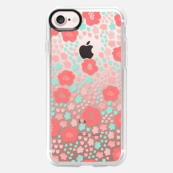 spring flowers - cute floral pop vintage style cute flower clear case - Wallet Case
