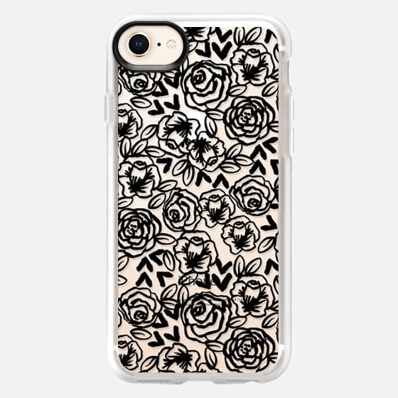 Black and White roses minimal trendy cell phone case iphone6 cases by andrea lauren  - Snap Case
