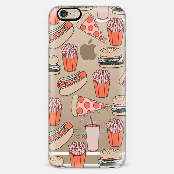 Junk Food - burgers fries pizza hot dogs summer grilling food print