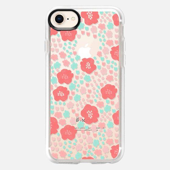 spring flowers - cute floral pop vintage style cute flower clear case - Snap Case