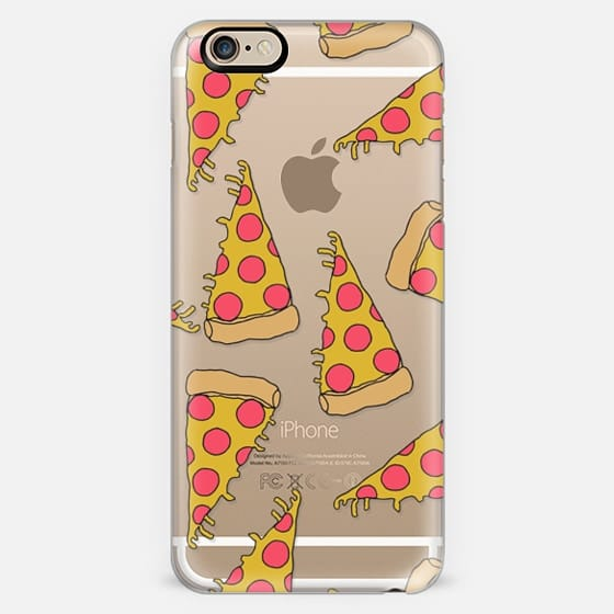 pizza - junk food cute foodie clear case -