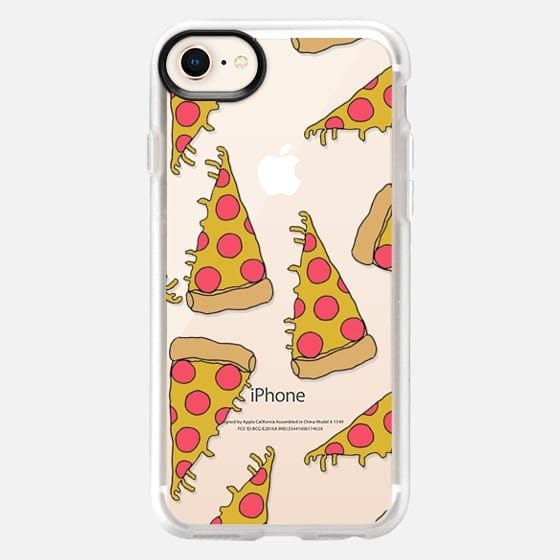 pizza - junk food cute foodie clear case - Snap Case