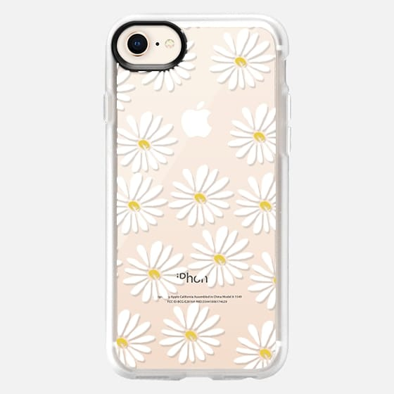 Daisies - 90s cool trendy daisy flower spring cute girly print for clear case - Snap Case