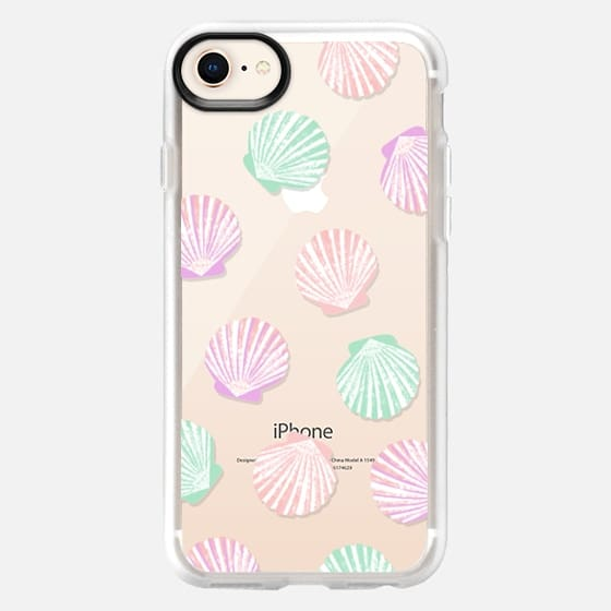 Seashells Summer pastel iphone7 case, iphone clear case, seashell phone case, seashells iphone case - Snap Case