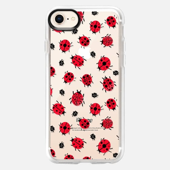 Good Luck Ladybugs Transparent by Andrea Lauren  - Snap Case