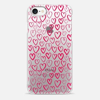 iPhone 7 Case Hearts - Pink