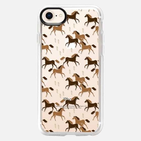 Western Horses - Cute cowgirl design on Transparent Case by Andrea Lauren - Snap Case