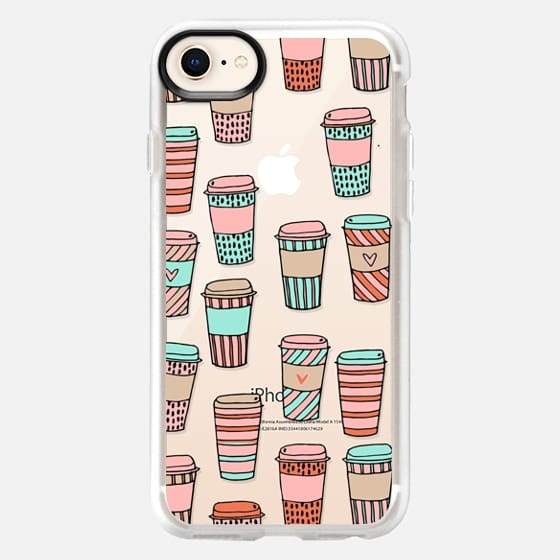 but first, coffee - latte cute food foodie clear case - Snap Case