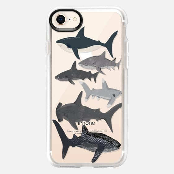 Sharks iphone7 case, shark week phone case, sharks phone clear case - Snap Case