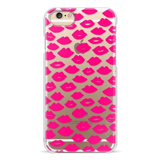 iPhone 6 Cases - Lipstick Kisses - Pink