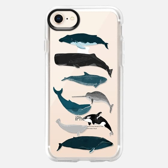Whale iphone case, whales pattern, whales iphone7 case - Snap Case