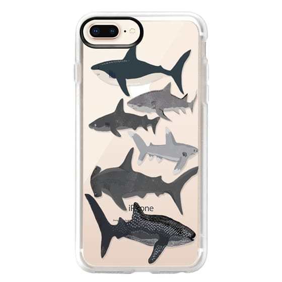 iPhone 8 Plus Cases - Sharks iphone7 case, shark week phone case, sharks phone clear case