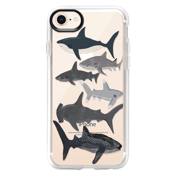 reputable site 29e59 72fa6 Classic Grip iPhone 8 Case - Sharks iphone7 case, shark week phone case,  sharks phone clear case