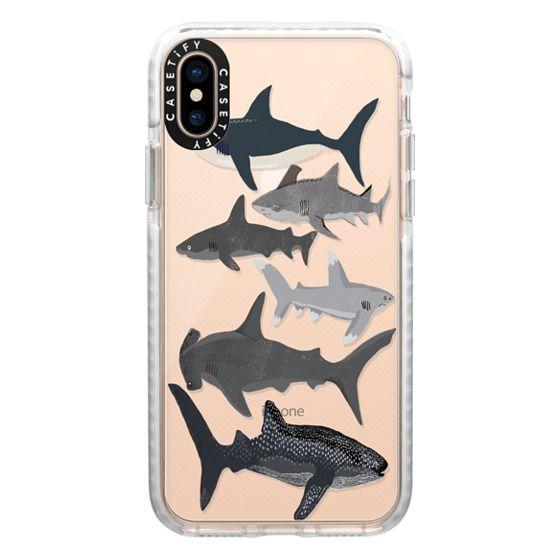 iPhone XS Cases - Sharks iphone7 case, shark week phone case, sharks phone clear case
