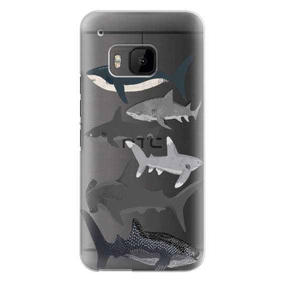 Htc One M9 Cases - Sharks iphone7 case, shark week phone case, sharks phone clear case