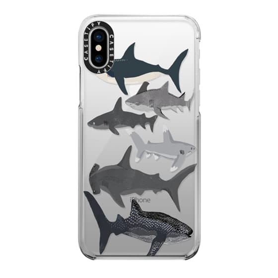iPhone X Cases - Sharks iphone7 case, shark week phone case, sharks phone clear case