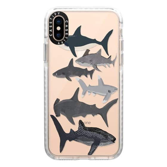 iPhone XS Cases - Sharks iphone7 case, shark week phone case, sharks phone clear case