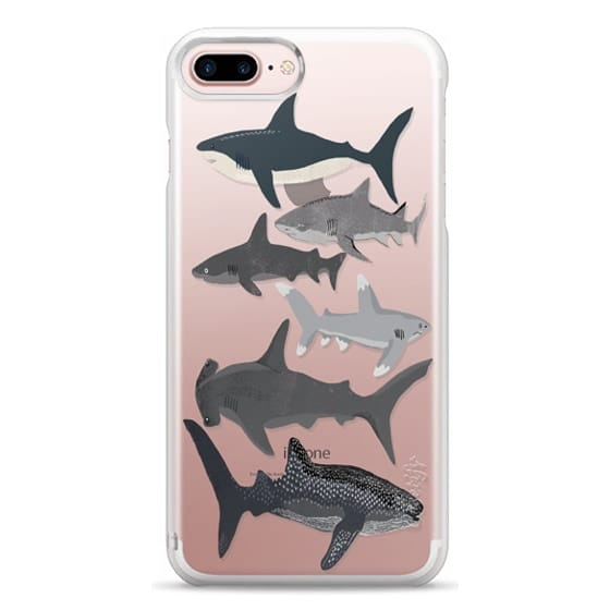 iPhone 7 Plus Cases - Sharks iphone7 case, shark week phone case, sharks phone clear case