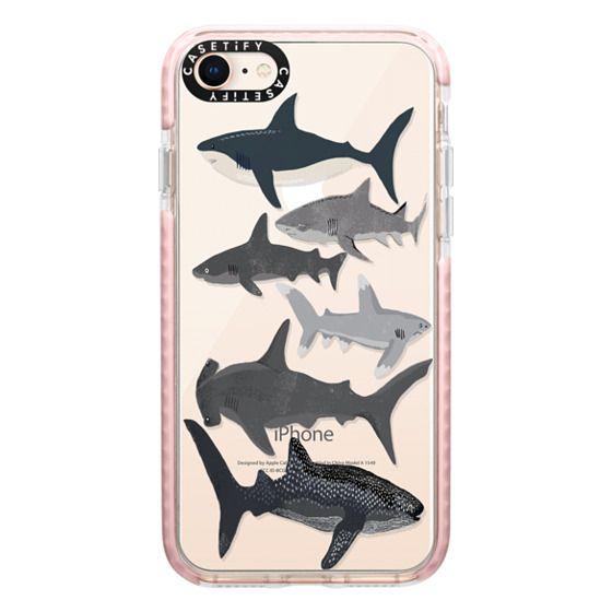 iPhone 8 Cases - Sharks iphone7 case, shark week phone case, sharks phone clear case